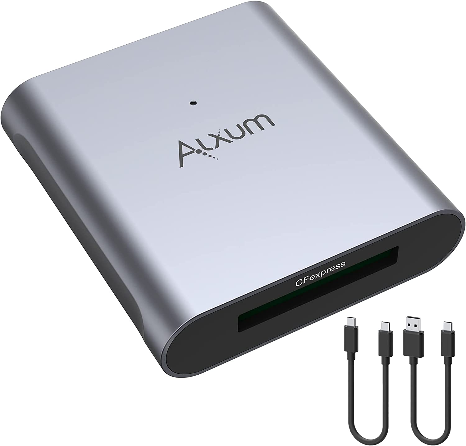 CFexpress Card Reader, Alxum USB 3.1 Gen 2 10Gbps USB C to CFexpress Type B Memory Card Adapter for Mac, Support Thunderbolt 3 Port Connection, with 2 Data Cable, Support Android/Windows/Mac OS/Linux
