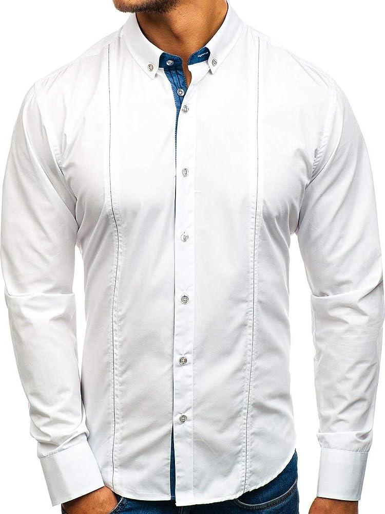 Bolf, camicia per uomo a manica lunga,65% cotone, 35% poliestere LAVINO SM38