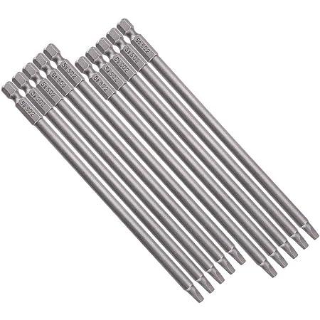Puntas de destornillador el/éctrico para taladro Material de hierro Material de acero para taladro 10 puntas magn/éticas fuertes