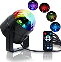 Reching Party Lights,Music Disco Light in Sound Activated with IR Controller,16 Colors DJ Stage Lamp for KTV Lighting,X'mas Party,Wedding Show,Club Pub Disco DJ Lighting - MultiColors