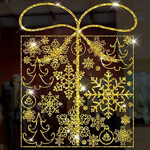 EWQK Décoration de Noël Décoration de Noël Fonds d'écran Verre Décoration de la fenêtre de vitre (Color : XD-78)