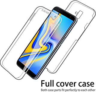 IMIFUN Luxury 360 Full Protective Cover Soft Double Silicone Phone Case for Samsung Galaxy S6 S7 Edge S8 S9 S10 Plus A5 A6 A8 A9 J3 J4 J2 J5 J6 J7 J8 2018 2017 2016 Cases (Black, S7)