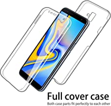 IMIFUN Luxury 360 Full Protective Cover Soft Double Silicone Phone Case for Samsung Galaxy S6 S7 Edge S8 S9 S10 Plus A5 A6 A8 A9 J3 J4 J2 J5 J6 J7 J8 2018 2017 2016 Cases (Gold, A7(2018)/A750)