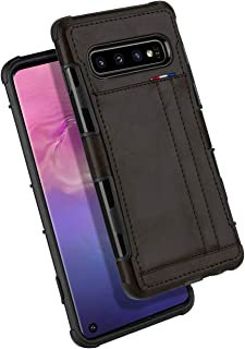Galaxy S10 Wallet Case, GOOSPERY Protective PU Leather Bumper Cover with Card Holder for Samsung Galaxy S10 (Dark Brown) S10-LEA-DKBRN