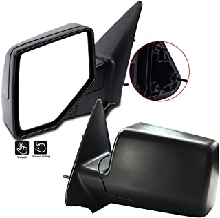 SCITOO Set Door Mirrors fit 2006-2011 Ford Ranger Manual Adjusted Folding Tow Mirrors Non Extended