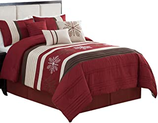 Best brown and burgundy comforter sets Reviews