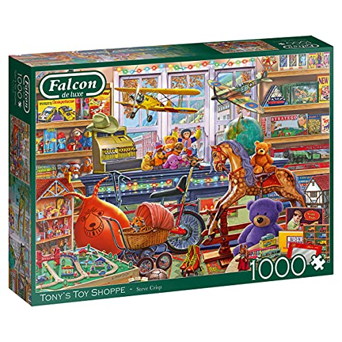 Jumbo- Tony's Toy Shop Puzzle, Multicolore, 11317