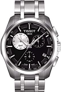 Tissot Men's Black Dial Stainless Steel Band Watch - T035.439.11.051