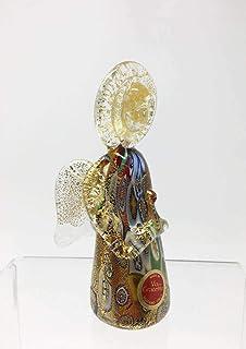 My Italian Decor Authentic Murano Glass Millefiori and Gold Angel, Small