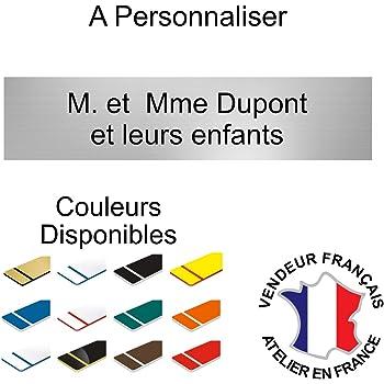 Gravure Discount Plaque ou Etiquette Boite aux Lettres 2 Lignes Argent 100x40mm