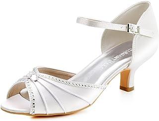 8c3ecb2d479934 Elegantpark Sandales Chaussures de Mariage pour femme