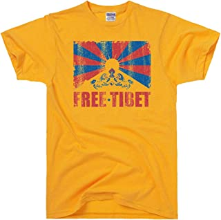 DirtyRagz Men's Free Tibet Vintage Print Peace T Shirt