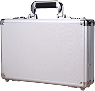 Uonlytech Mini Locking Box Aluminium Alloy Code Case Safety Money Saving Box (Silver)