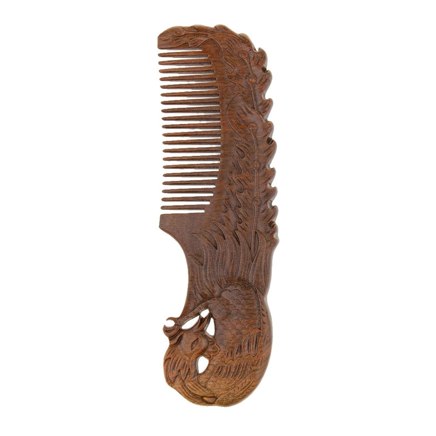 下品ネックレス難しいDYNWAVE 全2種類 ヘアコーム ヘアブラシ 木製 櫛 ポケットサイズ 女性 ギフト - Phoenix