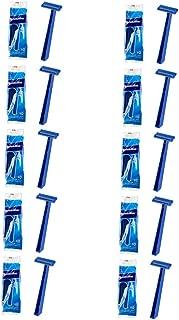 Super Max Men's Disposable Razors Twin Blade Shavers Bulk Wholesale (10pk x 10= 100 Razors)