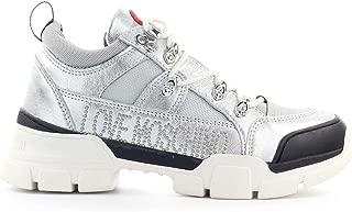 Moschino Luxury Fashion | Love Womens JA15554G08JB190A Silver Sneakers | Fall Winter 19