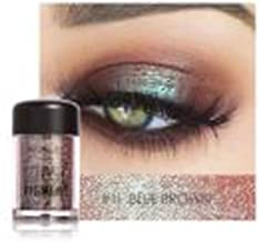 Laimeng_world 12 Colors Classy Single Baked Shimmer Pearl Metallic Pigmented Eyeshadow Highlighter Pigment Palette (K)