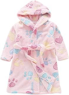 Joycebaby Toddler Robes Boys Girls Soft Flannel Fleece Printed Hooded Bathrobe