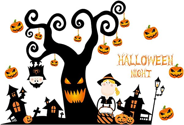 Outivity Halloween Decorations Wall Stickers Removable Halloween Wall Decal Stickers Window Decor Party Supplies For Home Kids Rooms 1