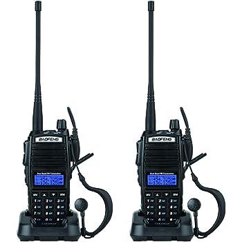 BaoFeng 2 Pack 5W UV-82 Dual Band Dual Standby Two Way Radio Handheld Walkie Talkie(Black)