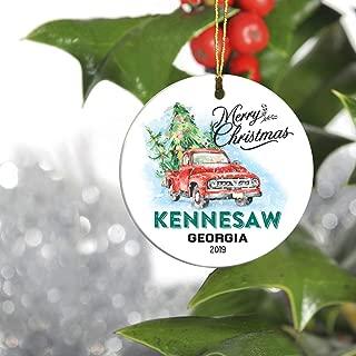 Christmas Tree Ornament 2019 - Merry Christmas Kennesaw Georgia GA State - Keepsake Gift Ideas Ornament 3
