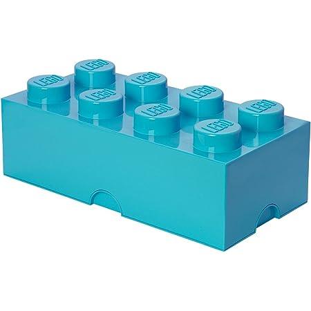 LEGO 40041743 Brique de Rangement empilable 8-Collection Design, Plastique, Moyen Azur, 50 x 18 x 25 cm