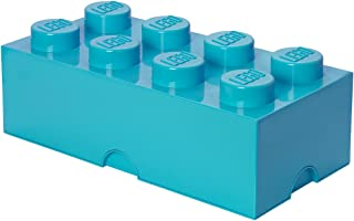 LEGO 40041743 Brique de rangement empilable 8 - Collection design, Plastique, Moyen Azur, 50 x 18 x 25 cm