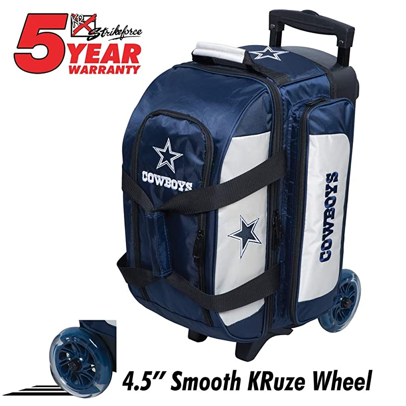 KR Strikeforce Bowling Bags Dallas Cowboys 2 Ball Roller Bowling Bag, Multi