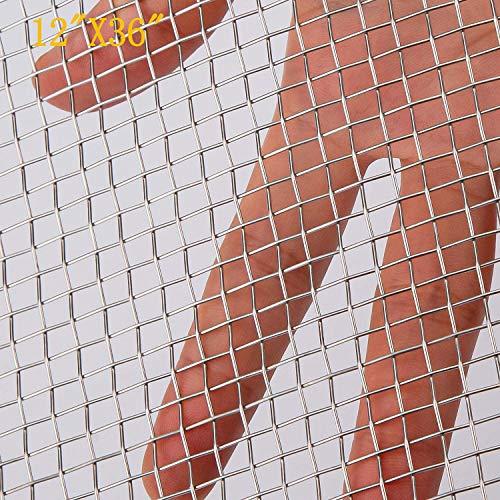 Zomine - Alambre de malla de acero inoxidable 304 de 30 cm x 90 cm, malla de protección de ventilación de aire para guardia de seguridad de metal, armarios de jardín