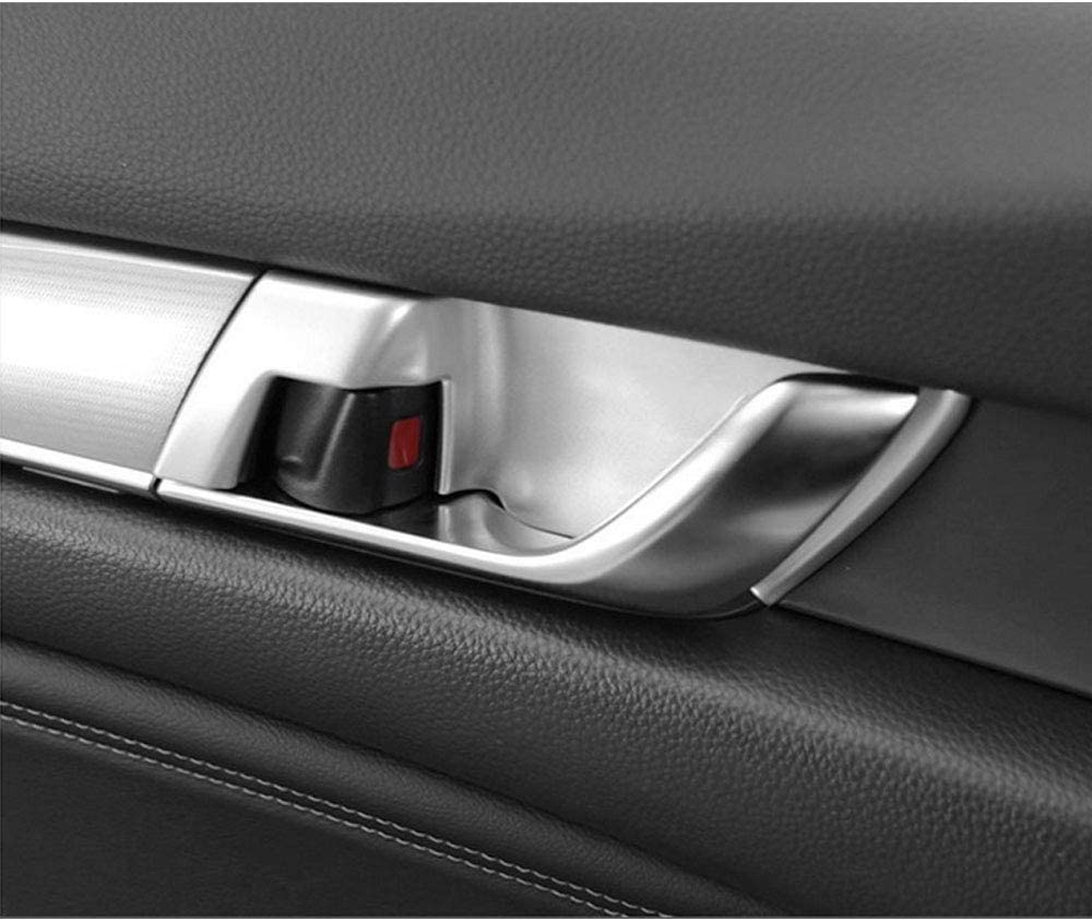 BLACK XITER 4pcs ABS Carbon Fiber Inner Door Handle Decoration Cover Door Bowl Trim For Honda Accord 2018 2019 2020