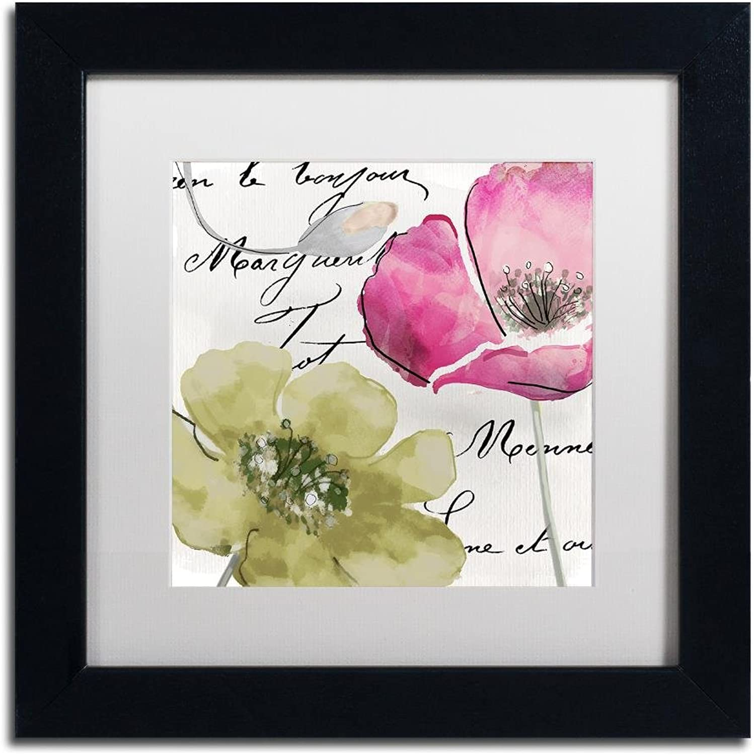 Trademark Fine Art Fleurs de France IV by color Bakery, White Matte, Black Frame 11x11, Wall Art