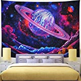 KHKJ Tapiz de Seta psicodélico cabecero de Pared Arte Colcha Dormitorio Tapiz para Sala de Estar Dormitorio decoración del hogar A4 200x150cm