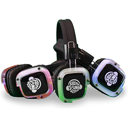 Silent Sound System Silent Disco Headphone Package (30 Headphones/3 Transmitters)