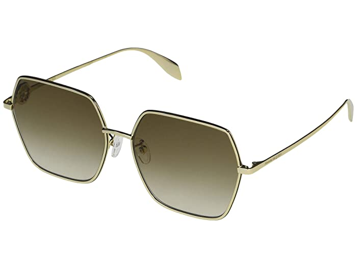 Alexander McQueen  AM0226SK (Gold) Fashion Sunglasses
