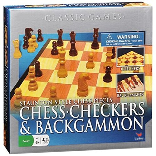 Cardinal Industries Chess/Checkers and Backgammon Set