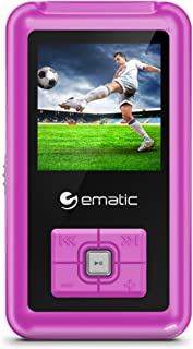 Ematic 8GB MP3 Video Player with FM Tuner/Recorder and 1.5-inch Color Screen, Pink