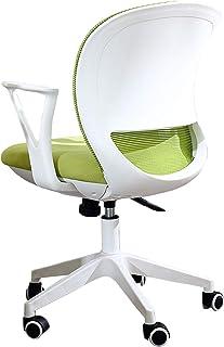 Silla Escritorio Silla de trabajo giratoria giratoria ajustable con respaldo medio - Silla de escritorio ejecutiva ergonómica con respaldo ajustable - Mujeres adultos Conferencia Oficina en el hogar