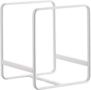 YAMAZAKI home 2270 Tower Dish Organizer-Storage Rack for Kitchen Cabinets, Small, White