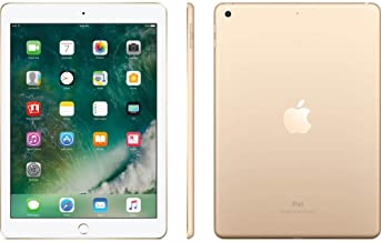 Apple iPad 9.7 with WiFi, 128GB- Gold (2017 Model) - (Renewed)