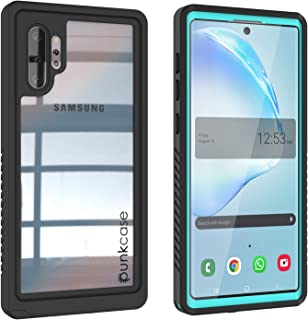 Punkcase Galaxy Note 10 Plus Waterproof Case [Extreme Series] [Slim Fit] [IP68 Certified] [Shockproof] [Dirtproof] [Snowproof] Armor Cover Compatible with Samsung Galaxy Note 10+ Plus turquoise