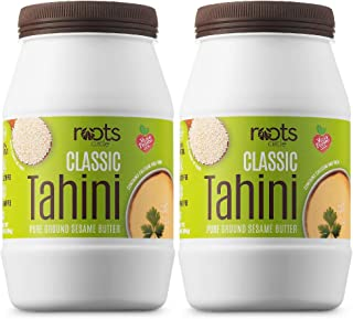 Roots Circle All-Natural Sesame Tahini Paste | 100% Pure Rich & Creamy Ground Sesame Seed Paste for Hummus, Tahini Sauce, ...