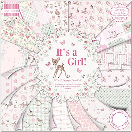 First Edition It's a Girl Premium Paper Pad 12