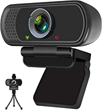 Webcam, HD Webcam 1080P with Privacy Shutter and Tripod Stand, Pro Streaming Web Camera with Microphone, Widescreen USB Co...