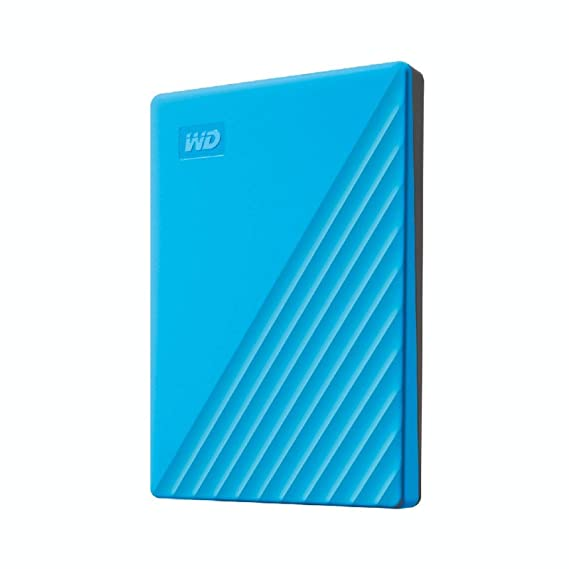 WD 1TB My Passport Portable External Hard Drive HDD, USB 3.0, USB 2.0 Compatible, Blue - WDBYVG0010BBL-WESN