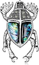 YAZILIND mar Concha Broche Escarabajo Forma aleación Collar Pins joyería Ramillete para Mujeres