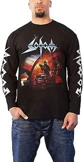 Sodom T Shirt Agent Orange Band Logo Official Mens Black Long Sleeve