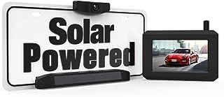 Solar Wireless Backup Camera, DIY No Wiring No Drilling Install with Digital Wireless Rear View Camera, Universal Bracket ...