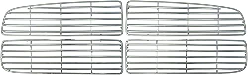 discount Front Grille Inserts outlet online sale Overlay Trim for 2007-2009 Toyota Tundra sale -Chrome Snap On Mesh Screen - Car, Truck, Van & Jeep Accessories online