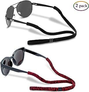 Original (elastic nylon/spandex) Standard End Glasses Straps, Sports Adjustable Eyewear..