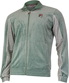 Fila Men's Cisco Zip Front Velour Track Jacket